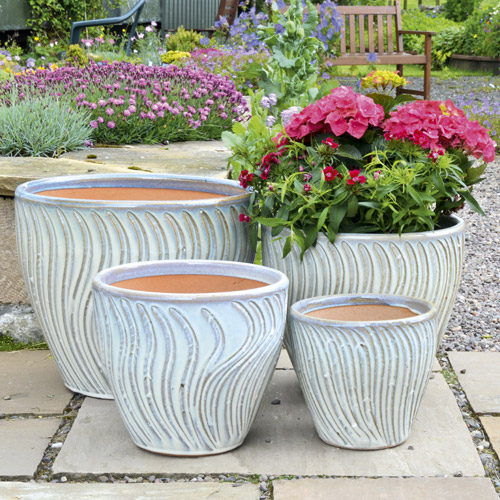 Mims White Planter